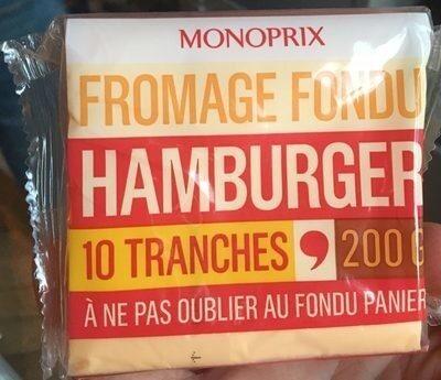 Fromage fondu hamburger - Produit - fr