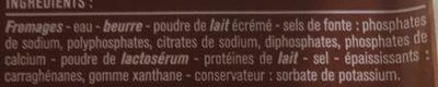 Fromage fondu croque monsieur - Ingrédients - fr