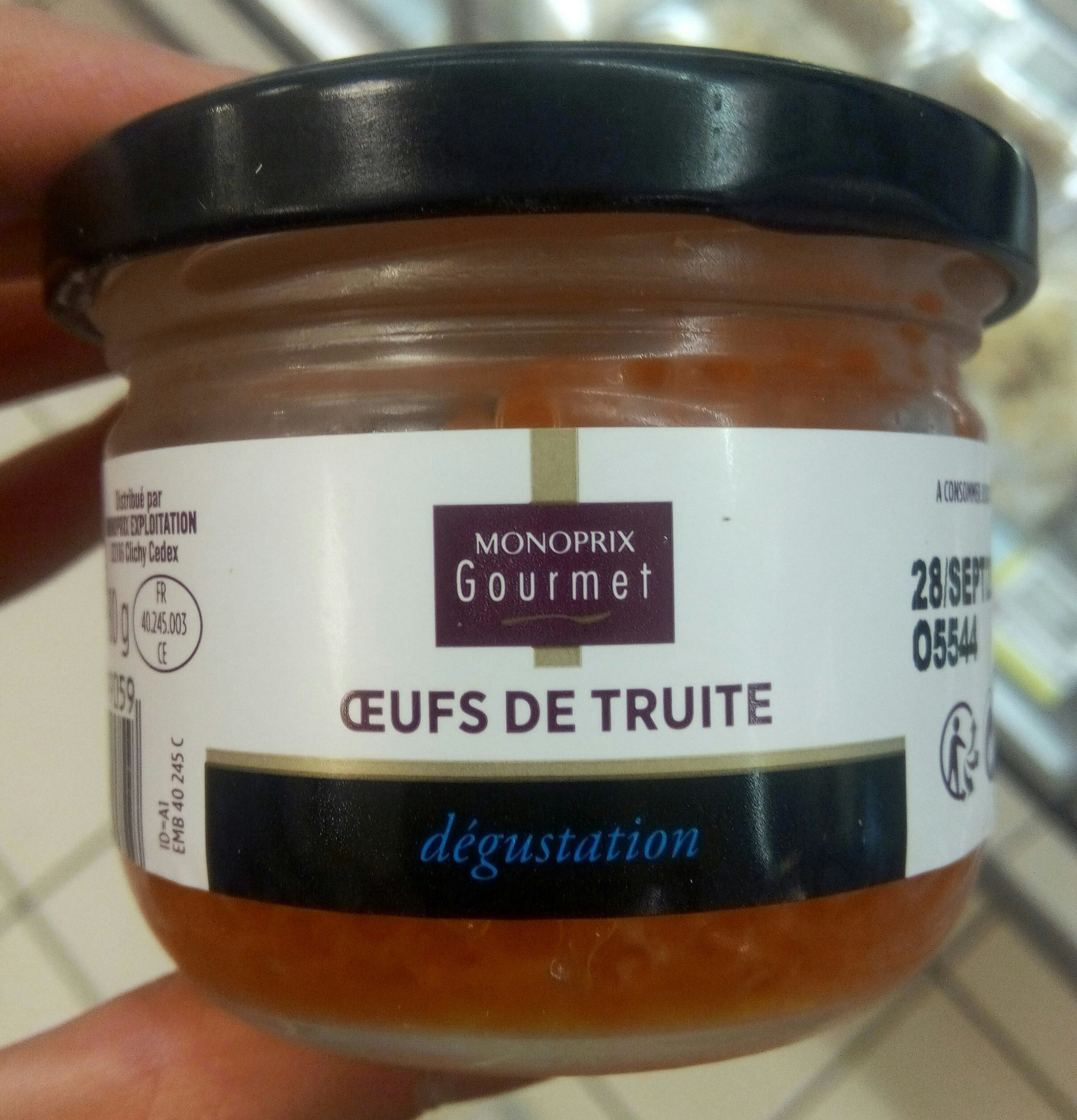 Oeufs de truite - Produit - fr
