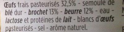 Quenelles lyonnaises de brochet pur beurre - Ingredients - fr