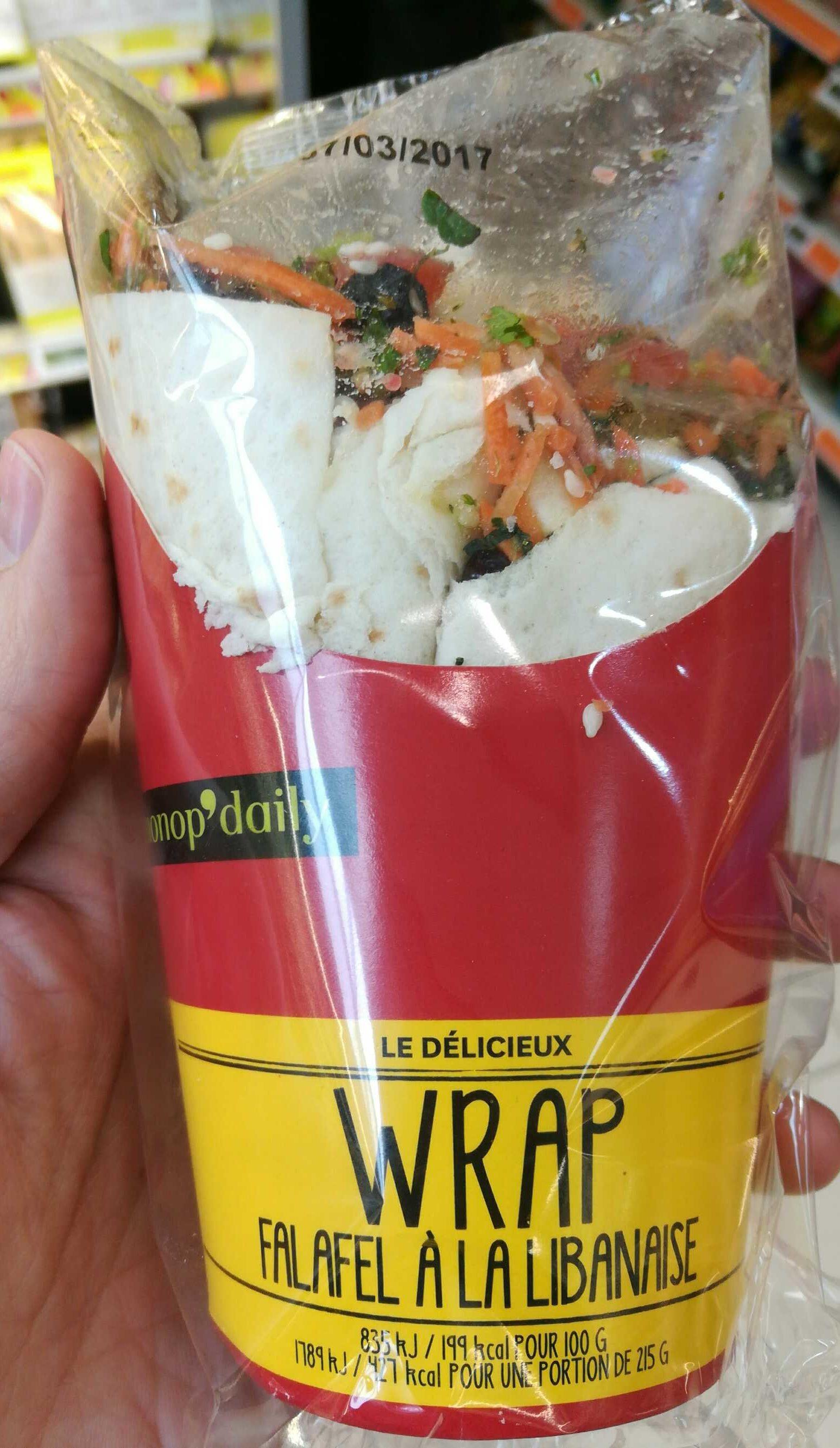 Wrap falafel a la libanaise - Product - fr