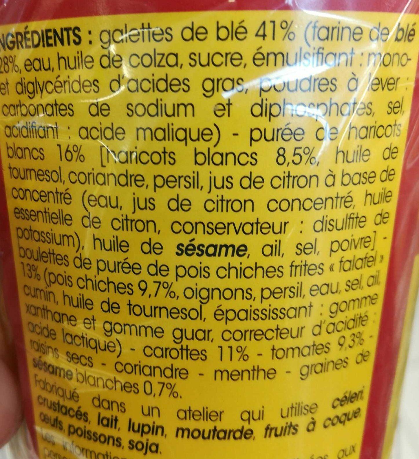 Wrap falafel a la libanaise - Ingrediënten - fr