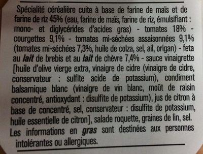 Fusilli sans Gluten Tomate Courgette Feta - Ingrédients - fr