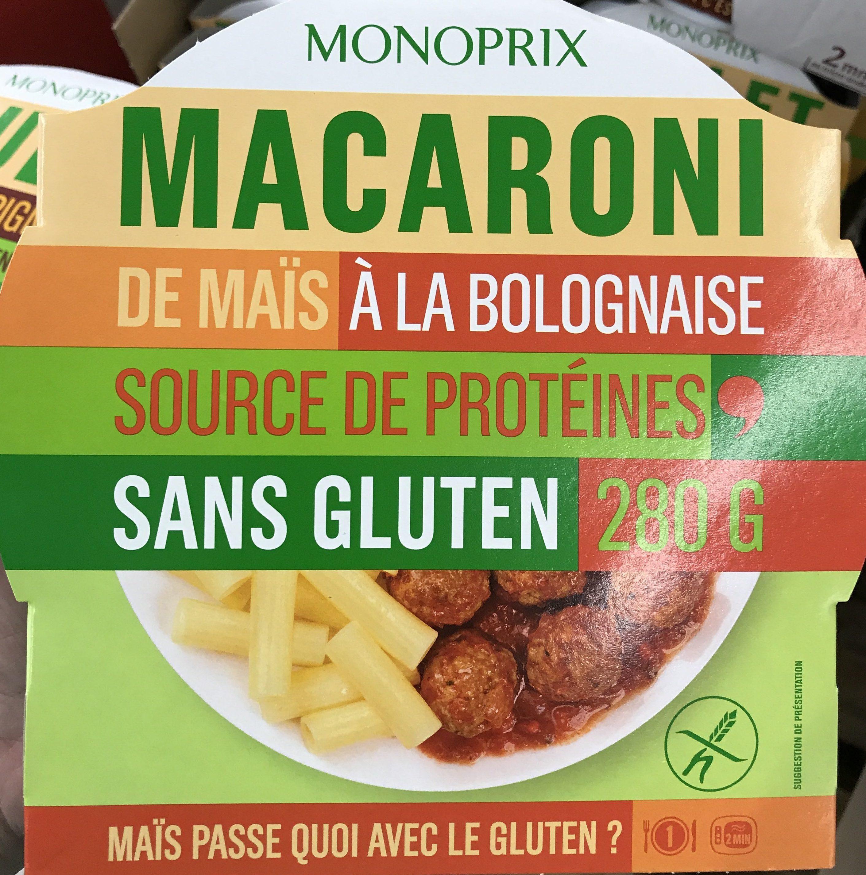 Macaroni de maïs à la bolognaise - Produit