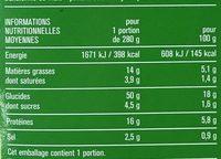 Macaroni de maïs à la bolognaise - Informations nutritionnelles