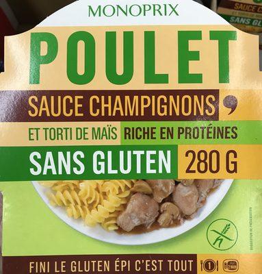 Poulet sauce Champignons et Torti de maïs - Produit - fr