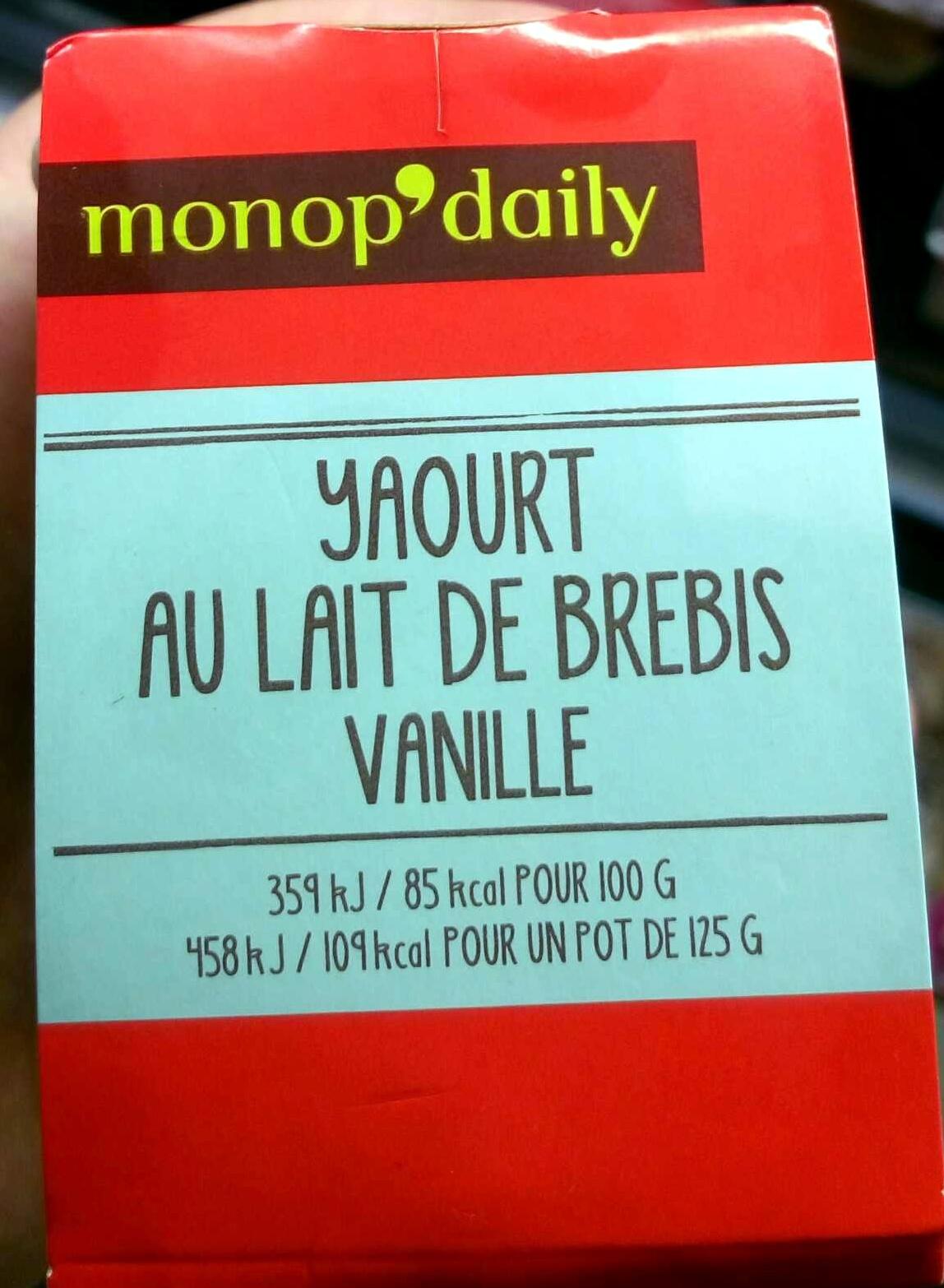 Yaourt au lait de brebis vanille - Product - fr