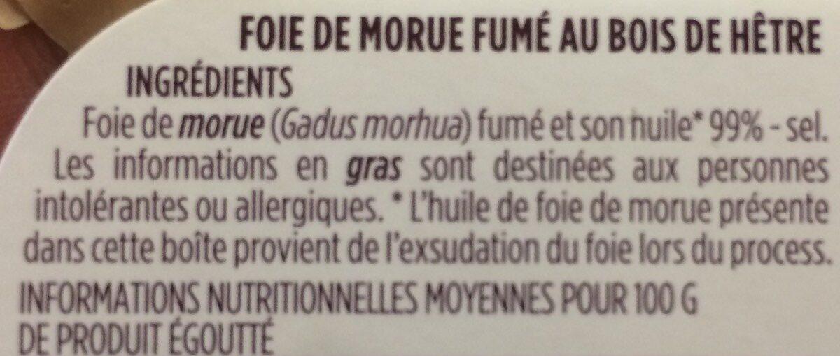 Foie de morue - Ingrédients - fr