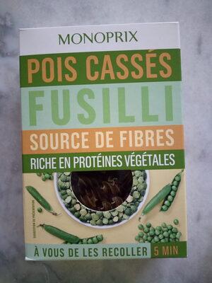 Fusilli, spécialité de farine de pois cassés, sans gluten - Produit - fr