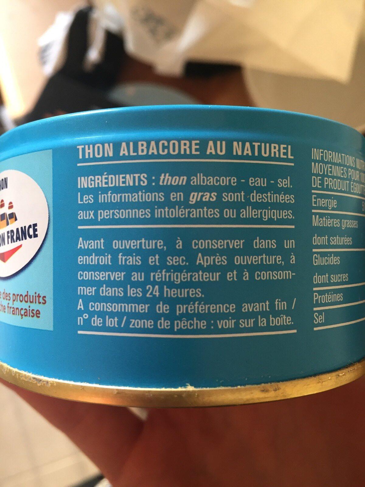 Thon - Ingredienti - fr