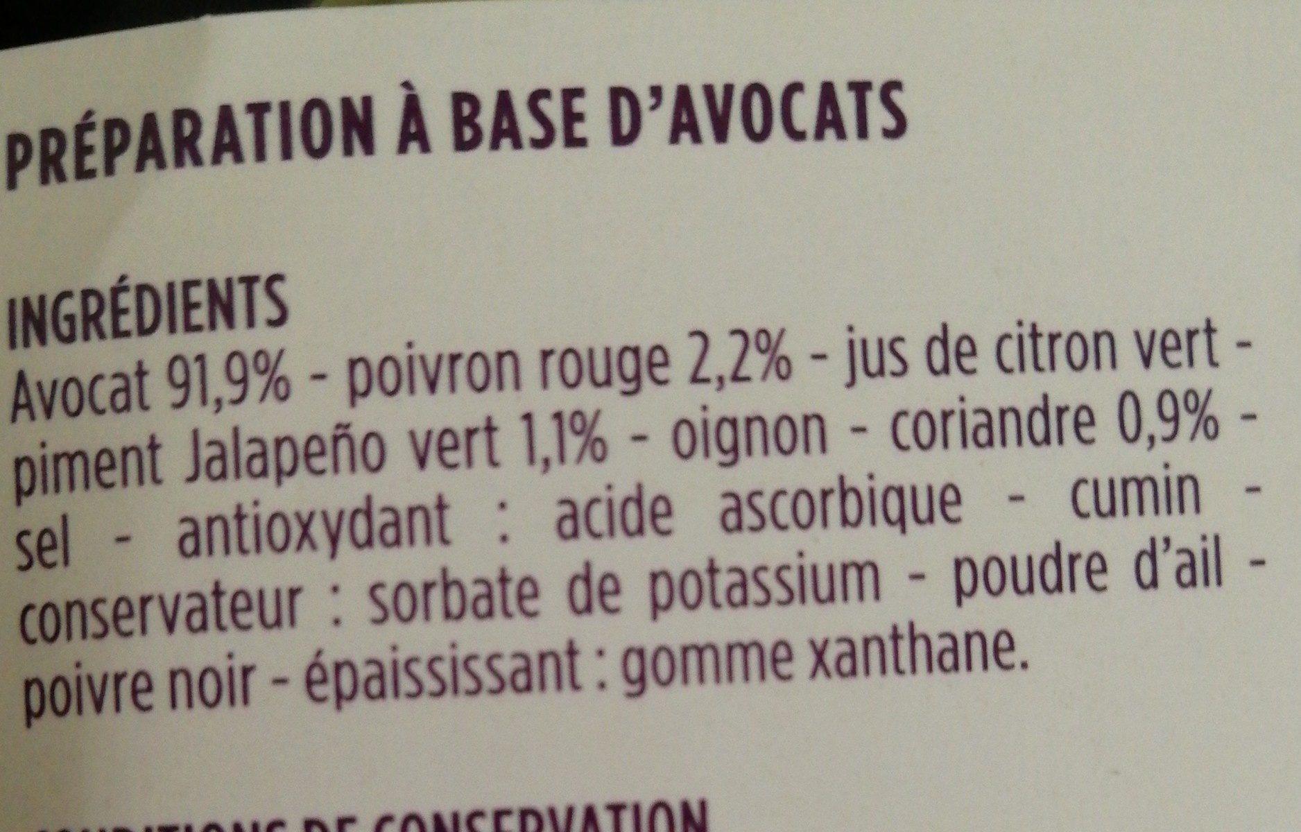 Guacamole - Ingredienti - fr