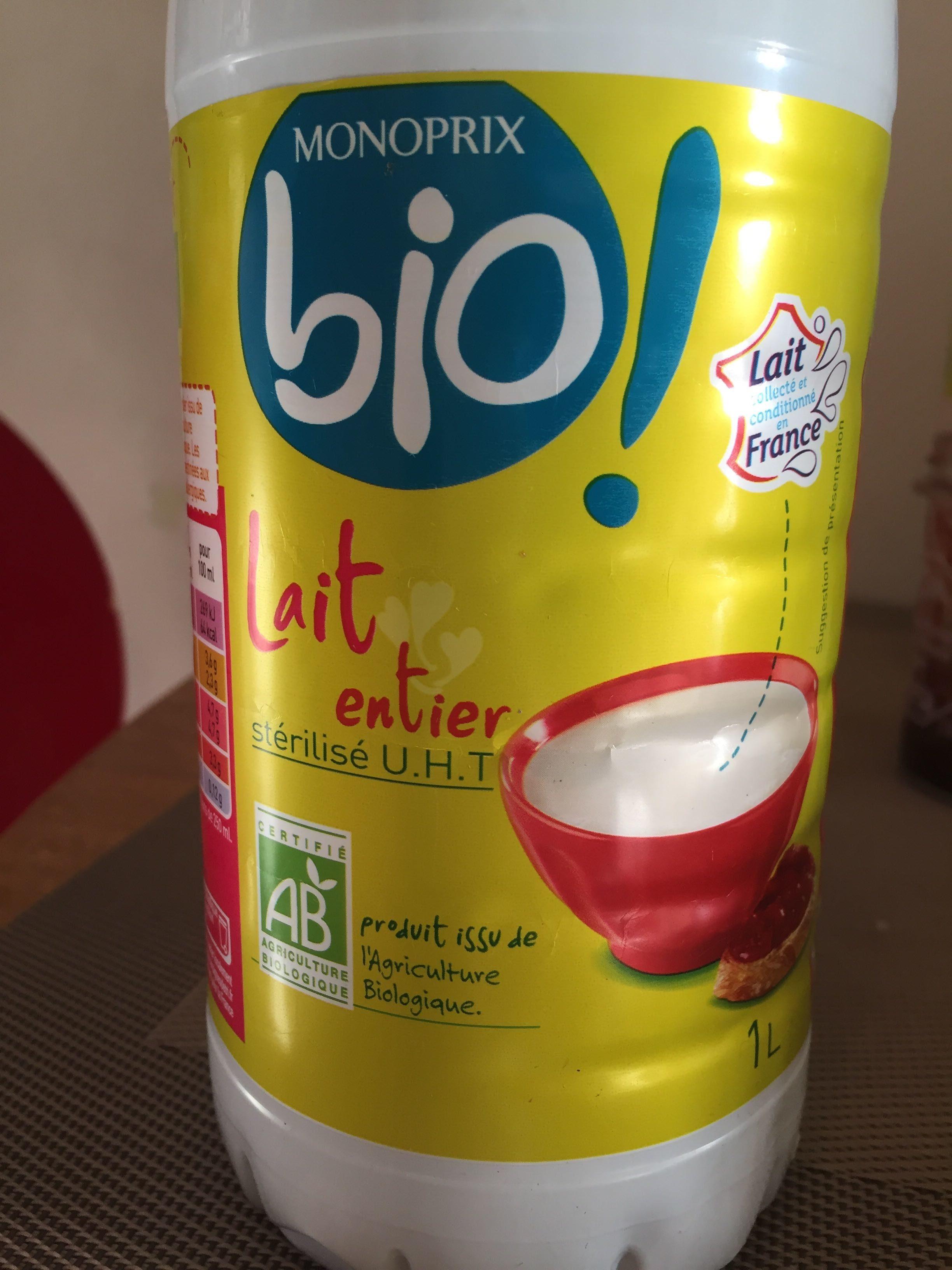 Lait entier stérilisé UHT bio - Product - fr