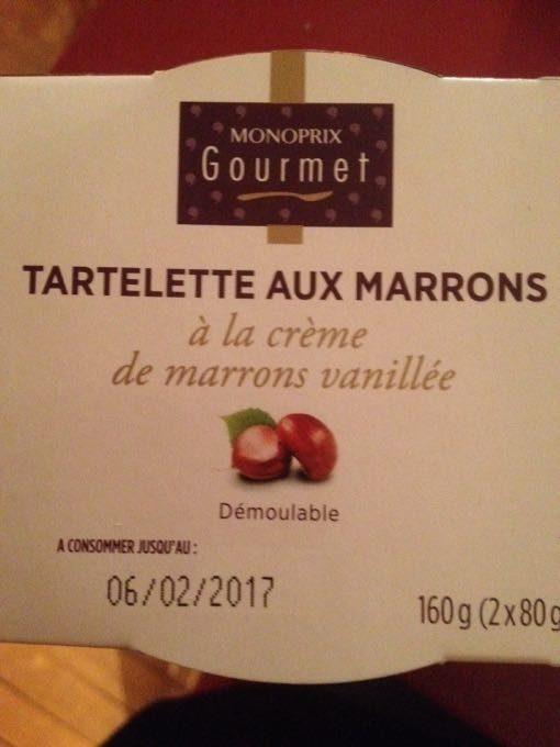 Tartelette aux marrons - Product - en