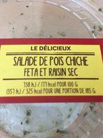 Salade de Pois Chiche, Feta et Raisins Secs - Product