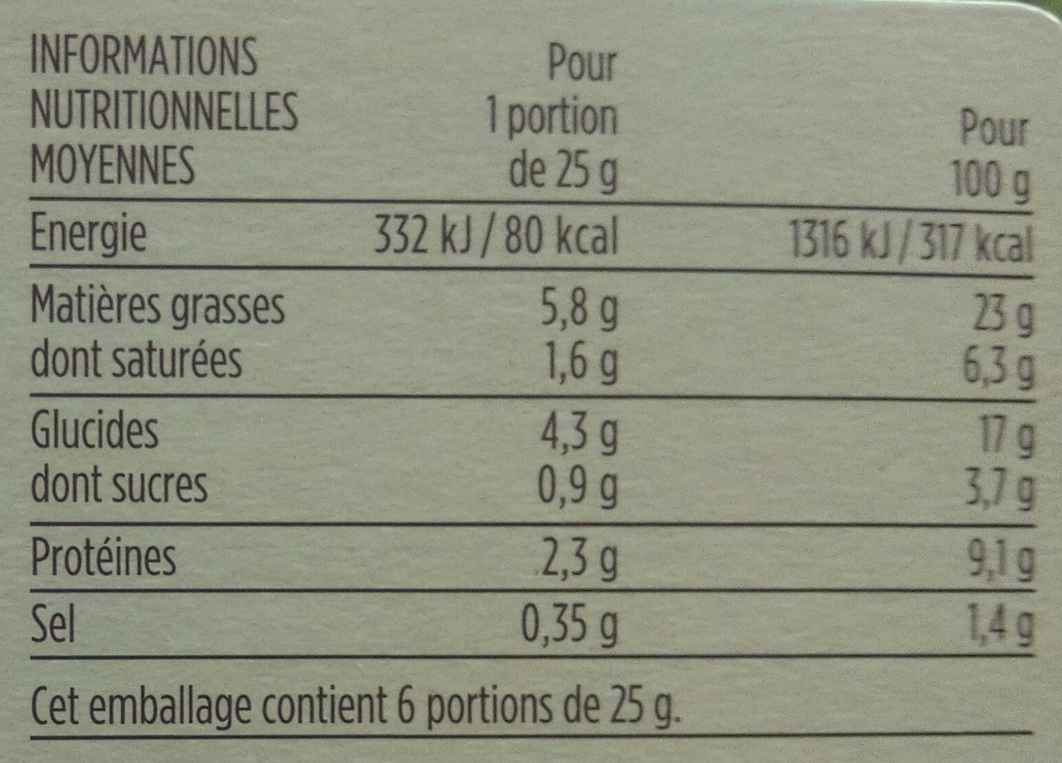Mini pastillas poulet et amandes - Informations nutritionnelles - fr