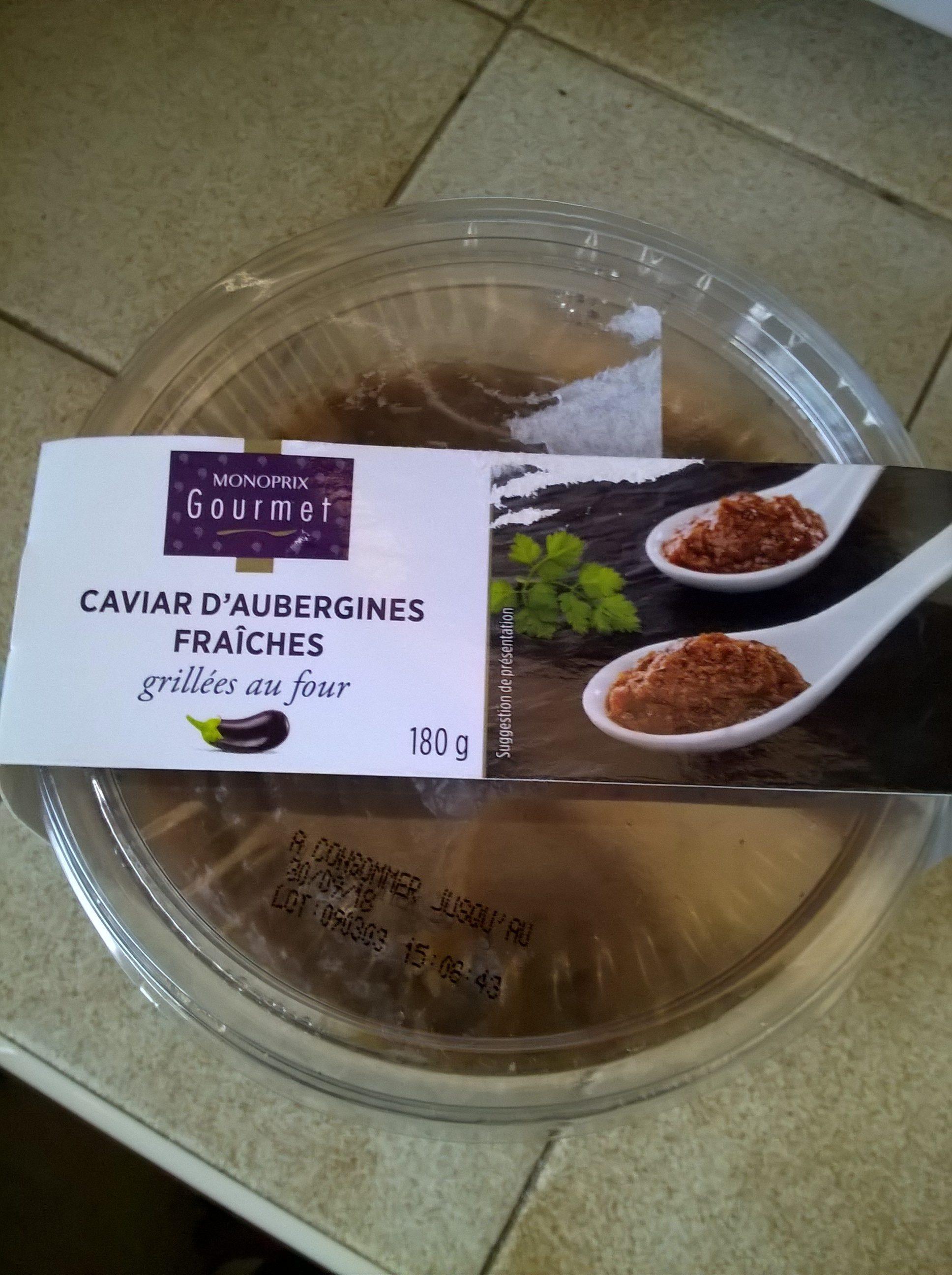 Caviar d'aubergines fraîches grillées au four - Produit - fr