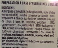 Caviar d'aubergines fraîches grillées au four - Ingrédients - fr