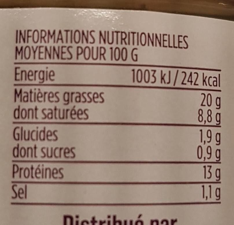 Rillettes de maquereau au poivre du Sichuan - Informations nutritionnelles - fr