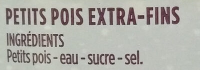 Petits pois extra-fins à l'étuvée - Ingredienti - fr