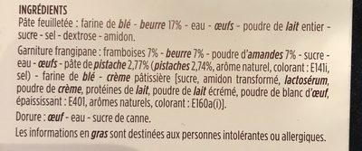 Galette des rois frangipane pistaches et framboises - Ingredients