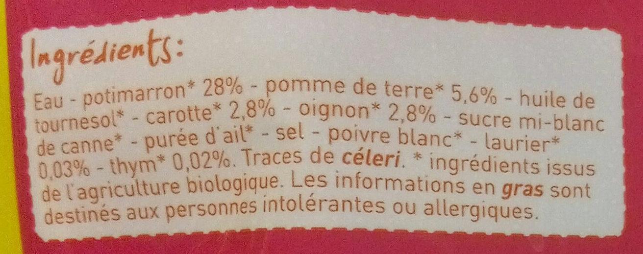 Potimarron carotte - Ingrédients - fr
