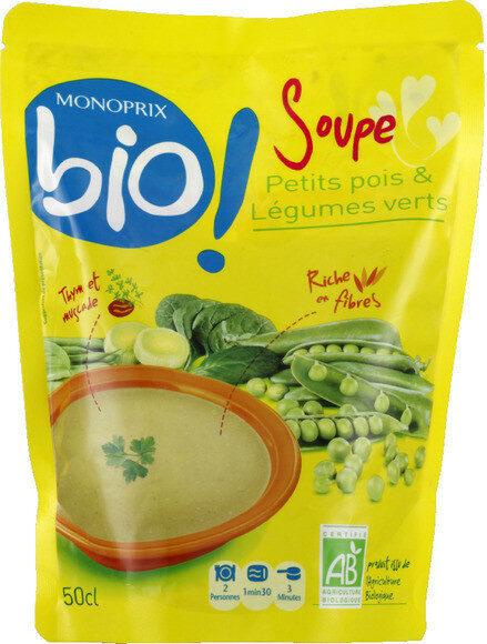 Soupe petits pois & légumes verts bio - Produit - fr