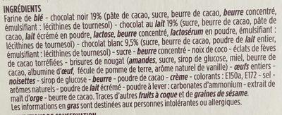 Assortiment de biscuits carrée - Ingrediënten