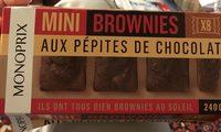 Mini brownies aux pépites de chocolat - Produit - fr