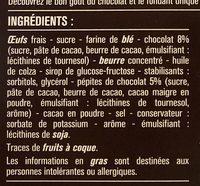 Mini brownies aux pépites de chocolat - Ingrédients - fr