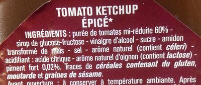 Ketchup hot - Ingredientes - fr