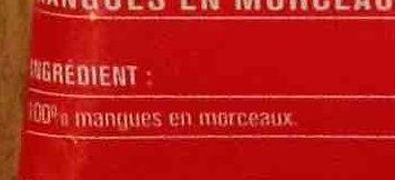 Mangue en morceaux - Ingrediënten - fr
