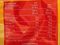 Mangue en morceaux - Voedingswaarden - fr