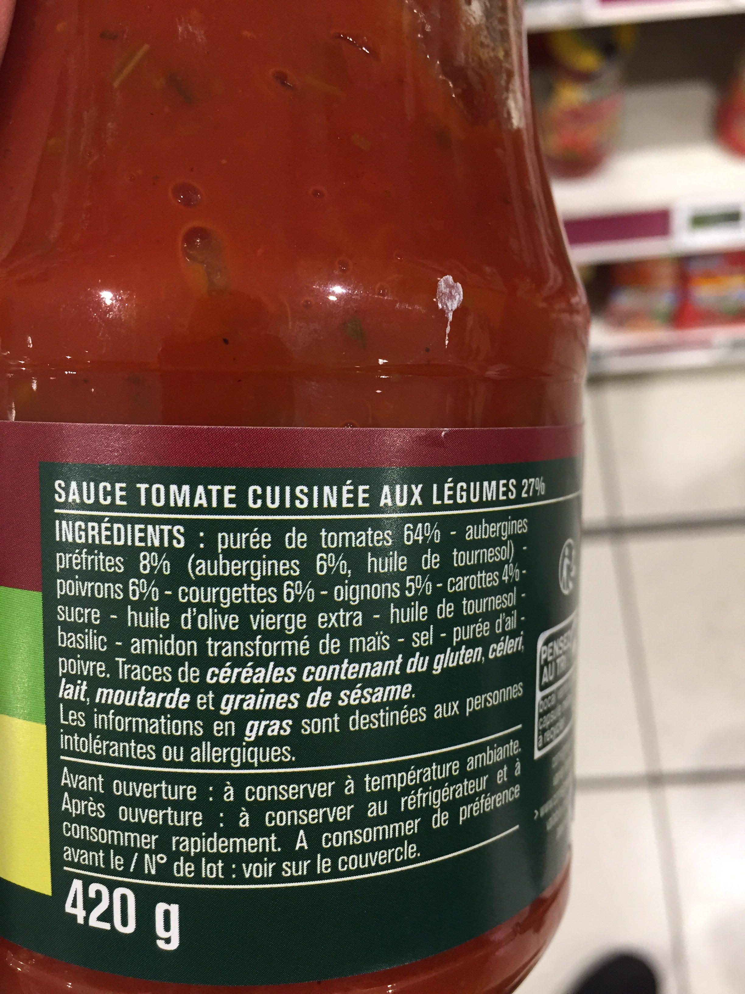 Sauce tomates aux 5 légumes - Ingrediënten