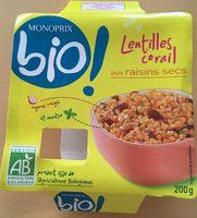 Lentilles corail aux raisins secs - Product - fr