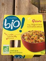 Quinoa aux legumes et fruits secs - Produit
