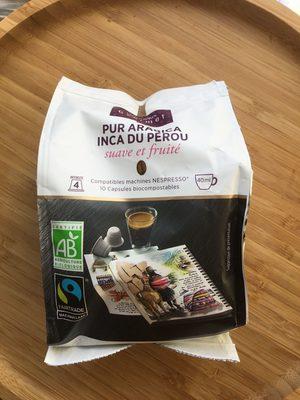 Capsules de café pur arabica Inca du Pérou bio - Product - en