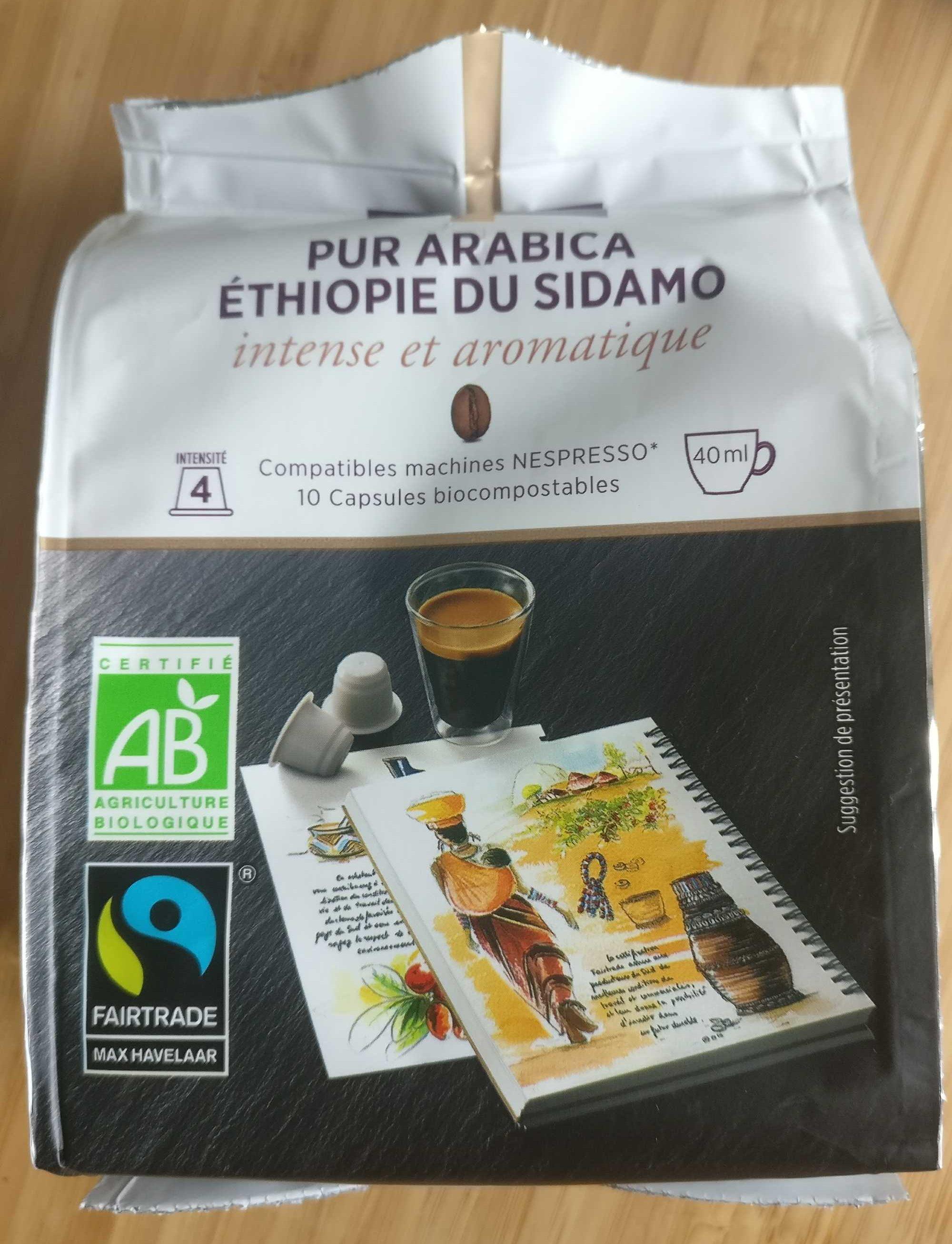 Capsules de café pur arabica Ethiopie du Sidamo bio - Product - fr