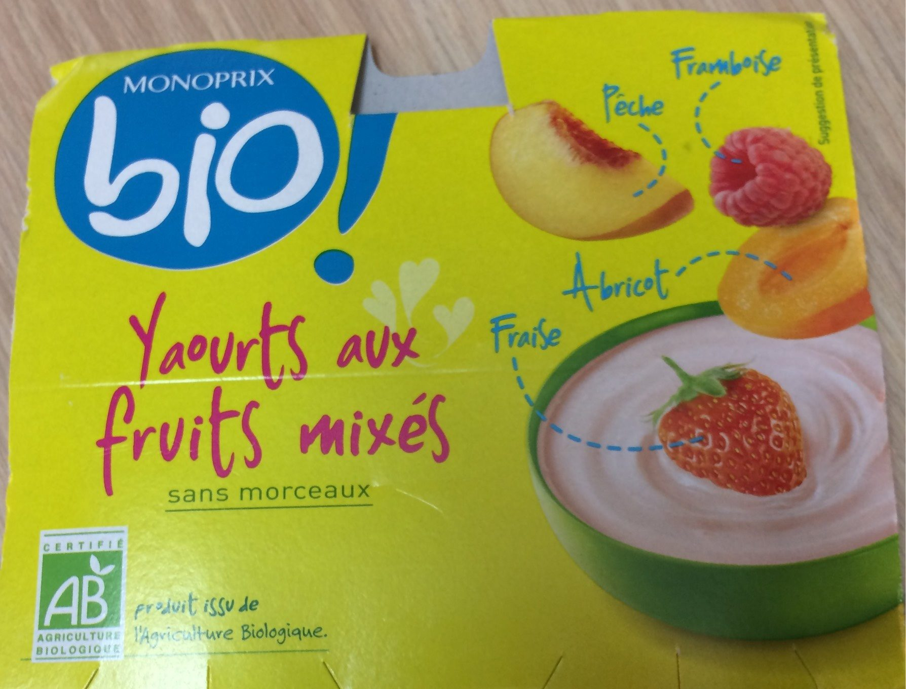Yaourt aux fruits mixés - Product