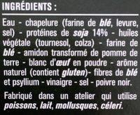Escalopes panées de soja - Ingredients