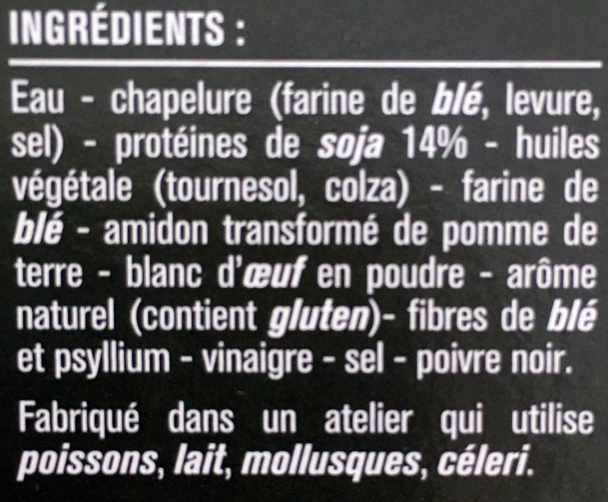 Escalopes panées de soja - Ingrédients