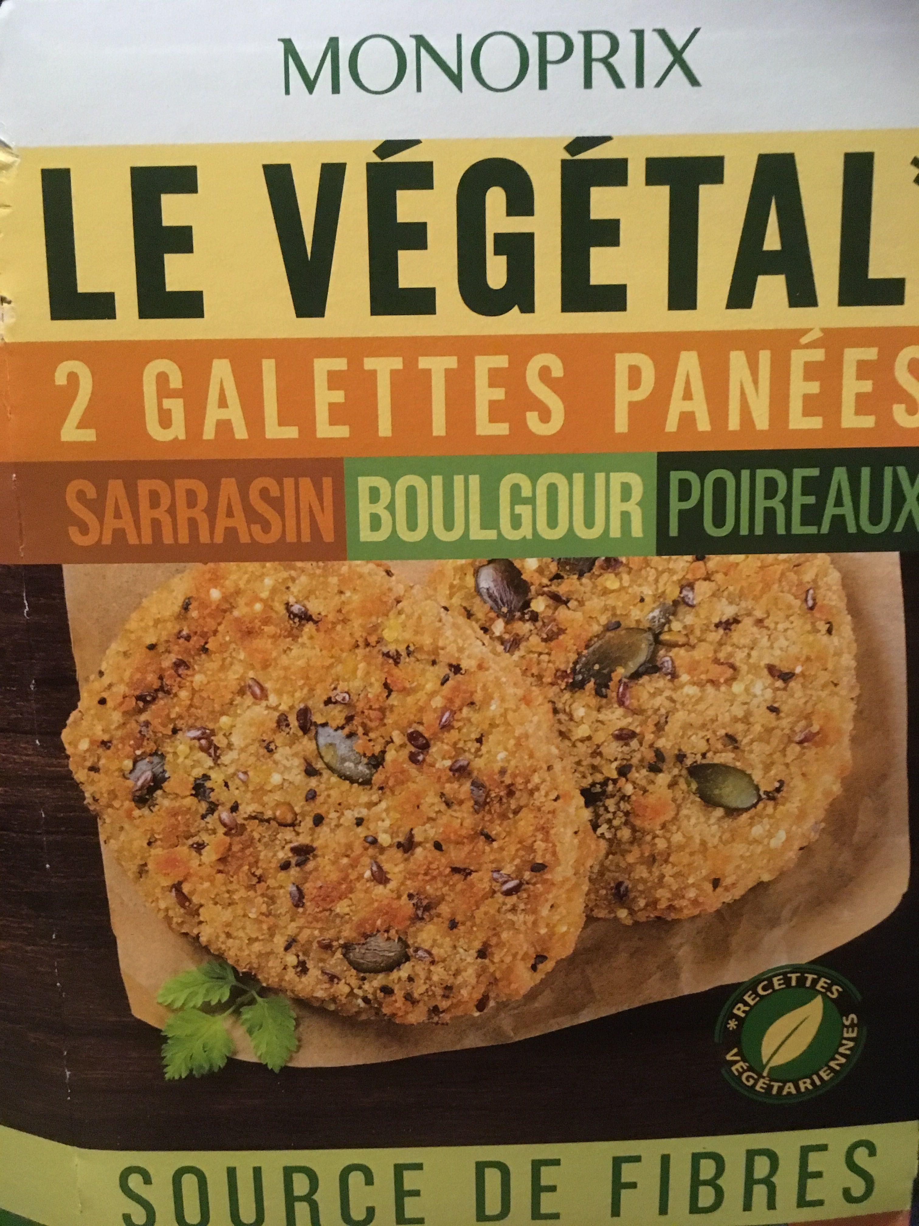 Galettes panées sarrasin boulgour poireaux - Product - fr