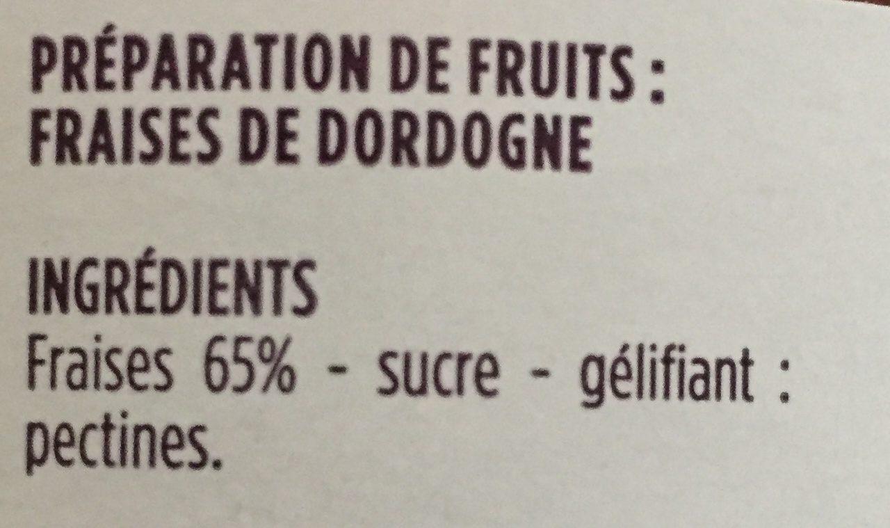 Confiture Fraises de Dordogne - Ingrédients - fr