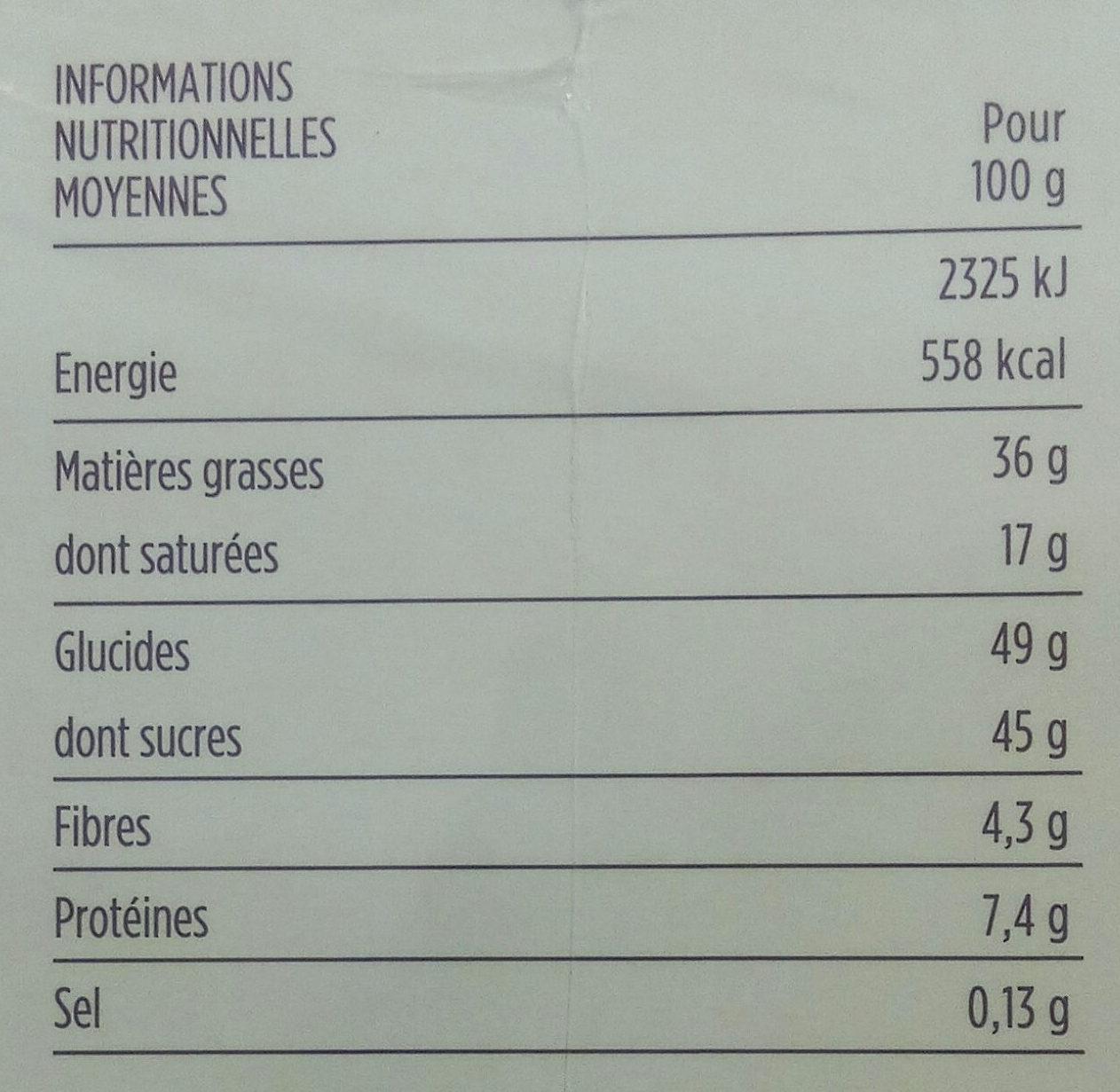 Assortiments de 48 fins chocolats - Voedingswaarden - fr