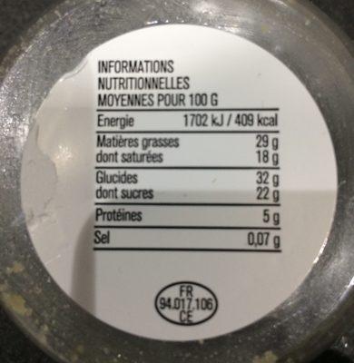 Tartelette Citron destructurée - Ingrediënten