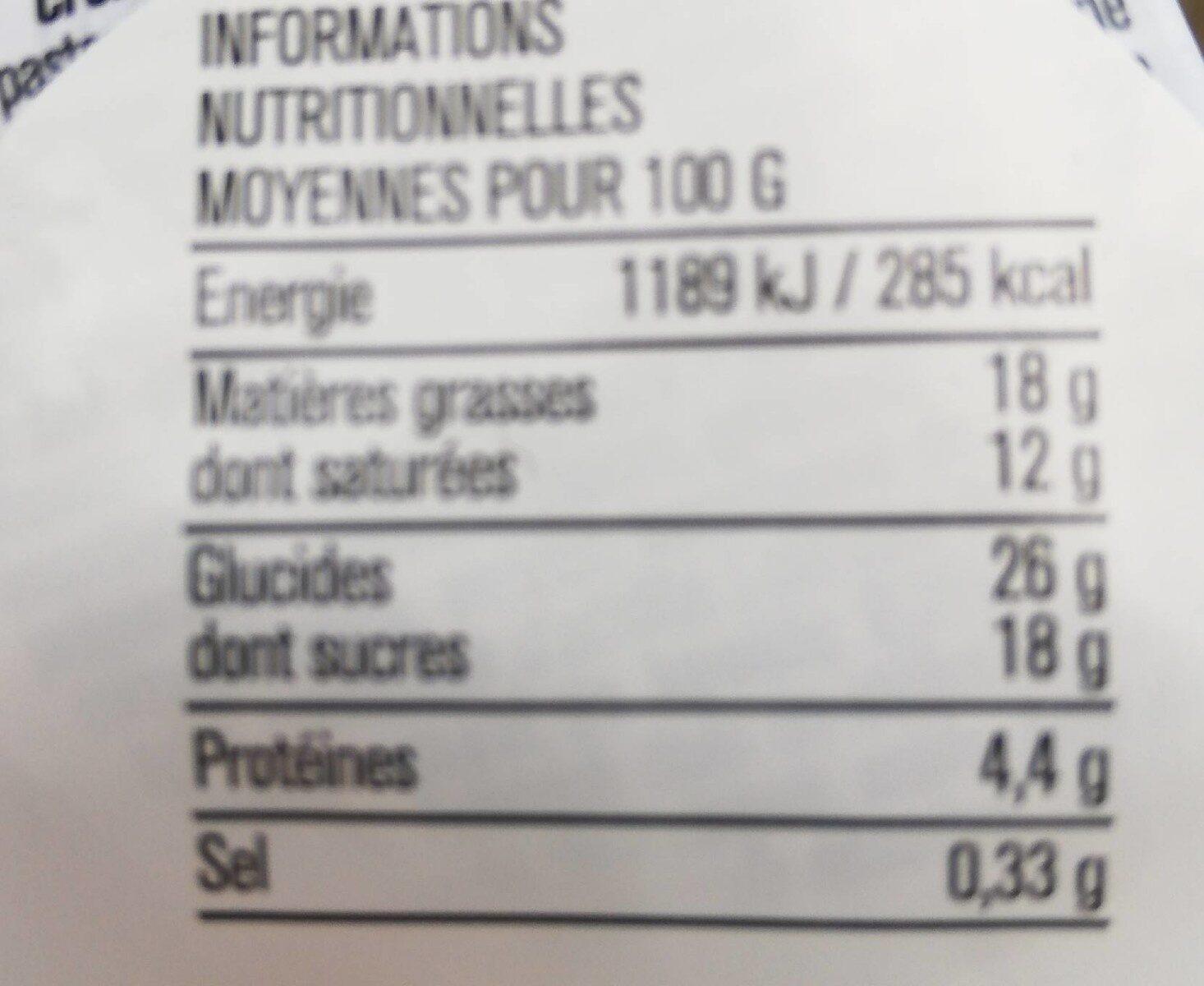 Cheesecake Abricot note de lavande - Nutrition facts