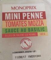 Mini penne tomates mozza - Produit - fr