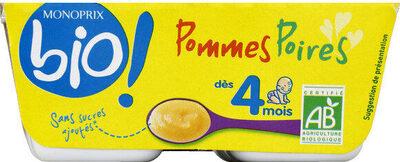 Compote pommes et poires sans sucre ajoutés - Produit - fr