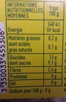 Compote pommes et poires sans sucre ajoutés - Informations nutritionnelles - fr