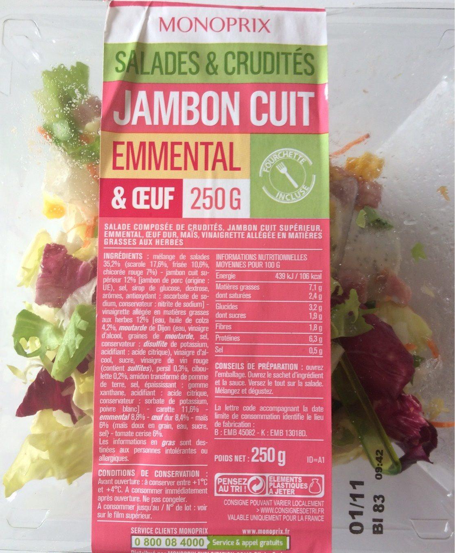 Salade jambon cuit emmental - Produit - fr