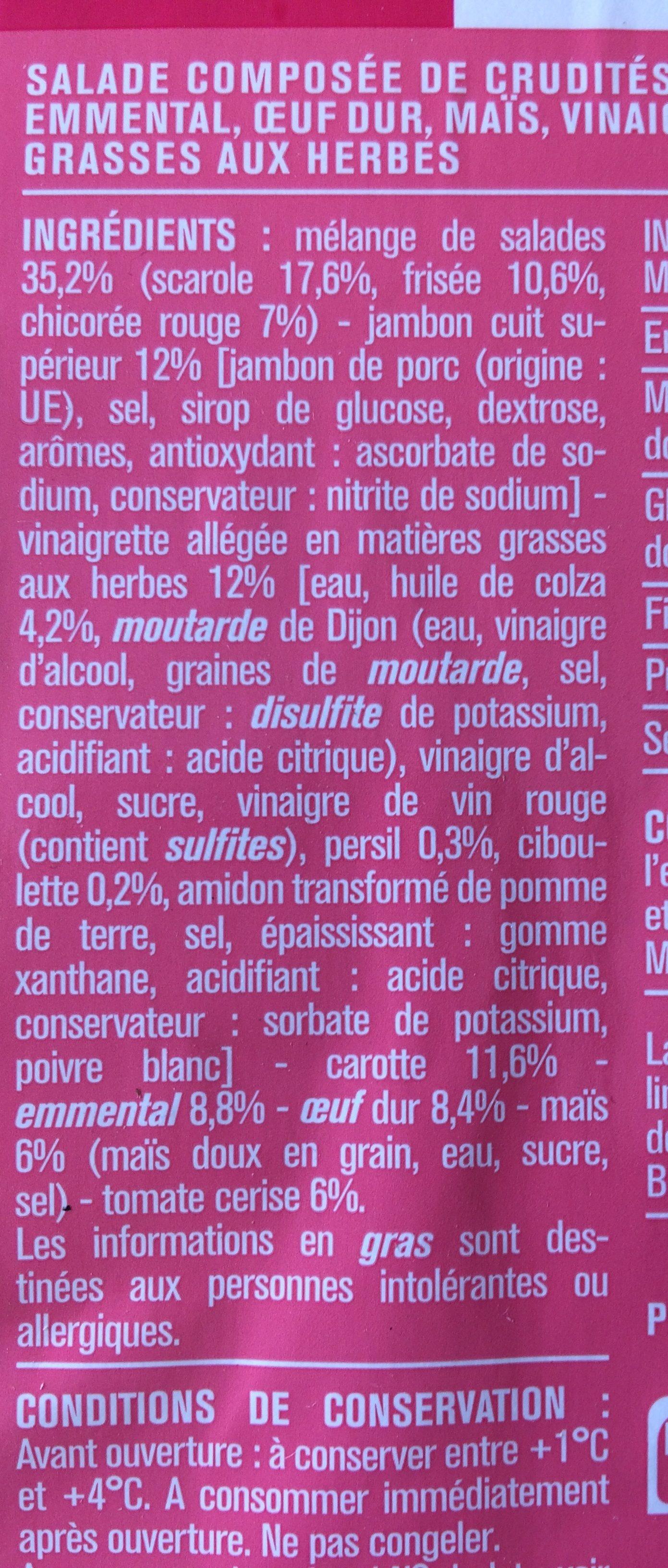 Salade jambon cuit emmental - Ingrédients - fr